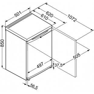 Малогабаритный холодильник Liebherr Tb 1400