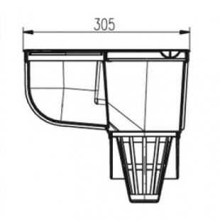 Дождеприемник MCH 325 Es с вертикальным выпуском серый