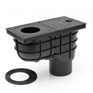 Дождеприемник MCH 325 E с вертикальным выпуском черный