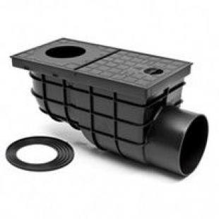 Дождеприемник MCH 325 G с горизонтальным выпуском черный