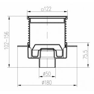 Трап MCH 420XL  двухкорпусный с вертикальным подключением