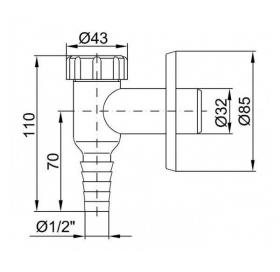 Внешнее подключение к стиральной машине к канализации D32 белый  CH-529