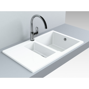 Кухонная мойка Miraggio La Pas 800 Белая