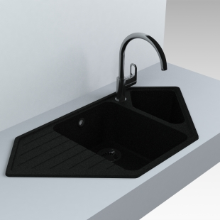 Кухонная мойка Miraggio Tirrion 960 Черная