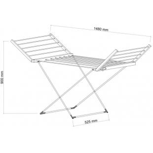 Сушилка длябелья электрическаяQtap Breeze(SIL)55701