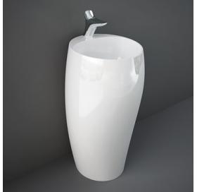 Умывальник RAK Ceramics Cloud монолитный напольный CLOFS5001AWHA глянцевый