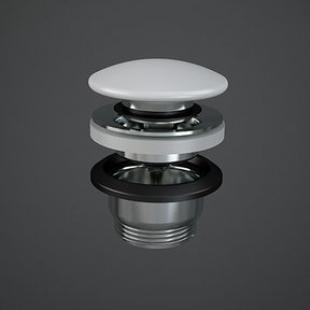 Донный клапан Rac Ceramics Click-Clack Feeling DUO000500A белый матовый