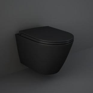 Сиденье для унитаза RAK Ceramics Feeling RSTSC3901504 Matt Black Slim Soft Close, Quick Release