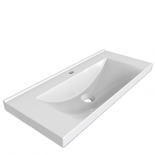 Мебельная раковина 2BI Olvia 80x47, белая, прямоугольная, 2.bi.0000.8047.0