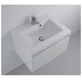 Мебельная раковина 2BI Tiny 60x35, белая, прямоугольная, 2.bi.0000.6035.0