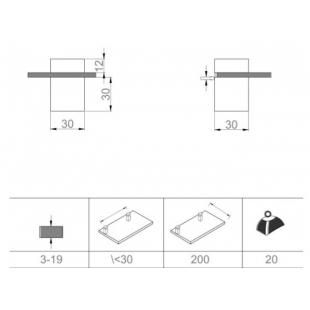 Полкодержатель полированный хром Sanwerk ZC0000126
