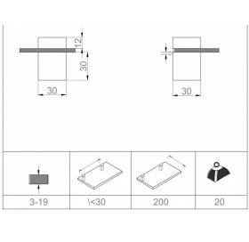 Полкодержатель матированный хром Sanwerk ZC0000145