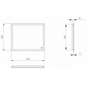 """Зеркало Sanwerk GLOVE """"Escada"""" 80*65 ZG0000102"""
