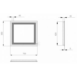 "Зеркало Sanwerk LAVA ""Kvadra"" 70*65 ZL0000160"