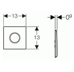 Кнопка для смыва Geberit HyTronic Sigma 01 116.021.21.5