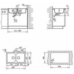 Кухонная мойка Teka ALBA 90 B-TG 88688