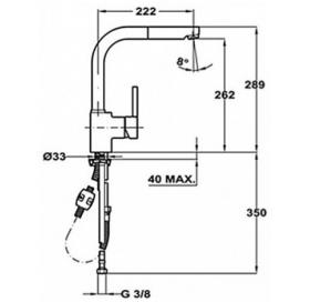 Смеситель для кухни Teka ARK 938 (Alaior-XL HP) 239381210