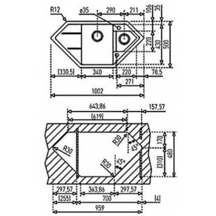 Кухонная мойка Teka ASTRAL 80 Е-TG 40143548