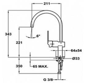 Смеситель для кухни Teka Cuadro H (MZ) 38911502