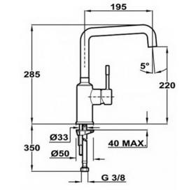 Смеситель для кухни Teka Frame H (FR) 509150210