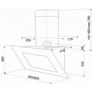 Вытяжка кухонная Teka DVT 680 W 40483540
