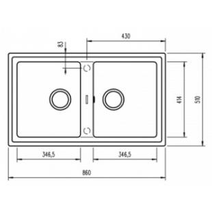 Кухонная мойка Teka STONE 90 B-TG 2B 115260005