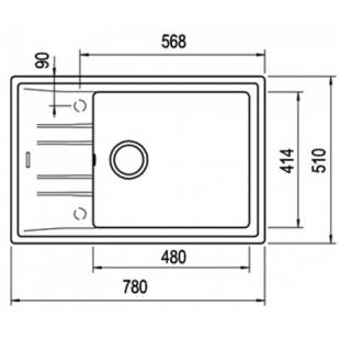 Кухонная мойка Teka STONE 60 S-TG 1B 1D 115330030