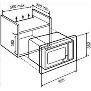 Микроволновая печь встраиваемая Teka MWE 207 FI 40581117