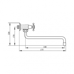 Однокранник для кухни настенный Touch-Z Smes 270, TZSME270