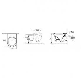 Комплект  Подвесной Villeroy & Boch Omnia Architectura 5684H101 soft closing+инсталяция 92246100