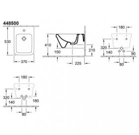 Биде подвесное Villeroy & Boch OMNIA ARCHITECTURE  44850001