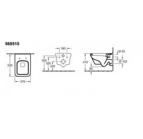 Унитаз подвесной VILLEROY&BOCH OMNIA ARCHITECTURE 5685H101 с сиденьем soft closing