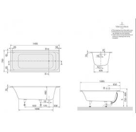 Ванна VILLEROY&BOCH OMNIA ARCHITECTURE  150*70см BA157ARA2V-01