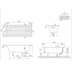 Ванна VILLEROY&BOCH OMNIA ARCHITECTURE  170*75см BA170ARA2V-01
