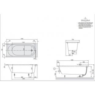 Ванна VILLEROY&BOCH O.NOVO  170*75 см BA170CAS2V-01
