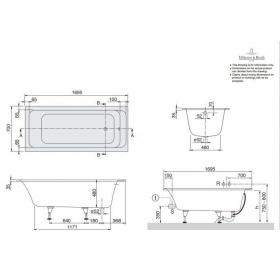 Ванна VILLEROY&BOCH OMNIA ARCHITECTURA 170*70см, BA177ARA2V-01
