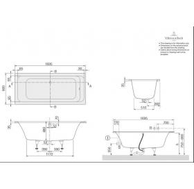Ванна VILLEROY&BOCH OMNIA ARCHITECTURE  170*80см UBA178ARA2V-01