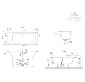 Ванна VILLEROY&BOCH OMNIA ARCHITECTURE  180*80см BA180ARA2V-96