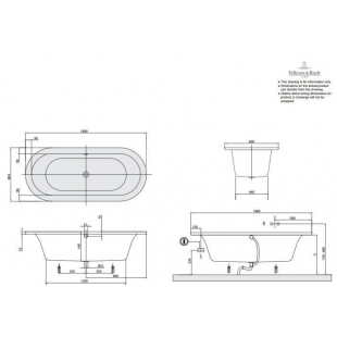Ванна VILLEROY&BOCH LOOP & FRIENDS 180*80см, BA180LF07V-01