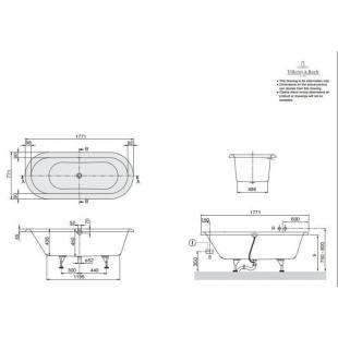 Ванна VILLEROY&BOCH NEXUS 177,1*77,1 см UBQ180NEU7V-01