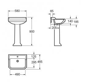 Комплект керамики VOLLE DON GRANDES 13-13-132 + 13-13-133