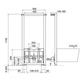 Инсталляционная система для биде VOLLE, 131115