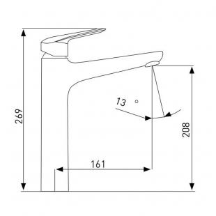 Смеситель для раковины VOLLE NEMO хром 35 мм, 15141200