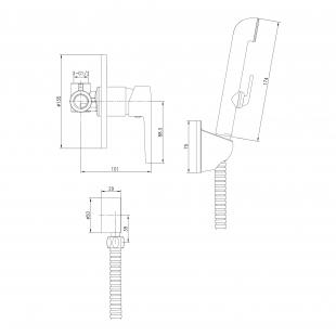 Смеситель скрытого монтажа + гигиенический  душ VOLLE BENITA, 15175200