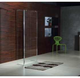 Стенка для душа VOLLE WALK-IN 400*1900 мм прозрачная безопасное стекло, 18-07-40