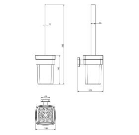 Ёршик туалетный VOLLE TEO настенный, 15-88-425