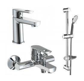 Комплект смесителей VOLLE Benita ( 3 in 1 ) для ванны (15171100+15172100+15147100), benita+
