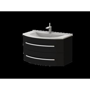 Тумба Botticelli Vanessa VN-90 черная с умывальником Vanessa-900
