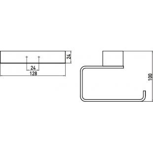 Держатель для туалетной бумаги Emco Loft Black, 0500 133 01