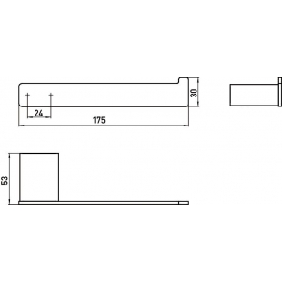 Держатель для туалетной бумаги Emco Loft Black, 0505 133 00